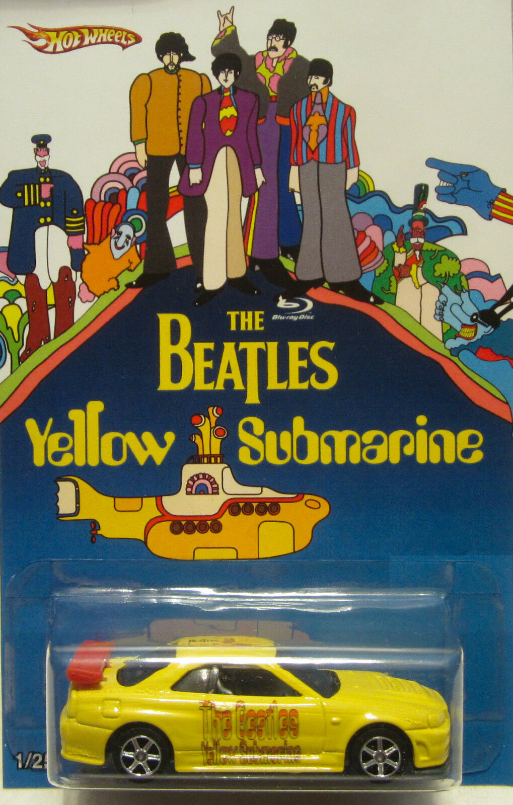 Hot Wheels a Medida Nissan Skyline The Beatles Yellow Submarine Real Riders