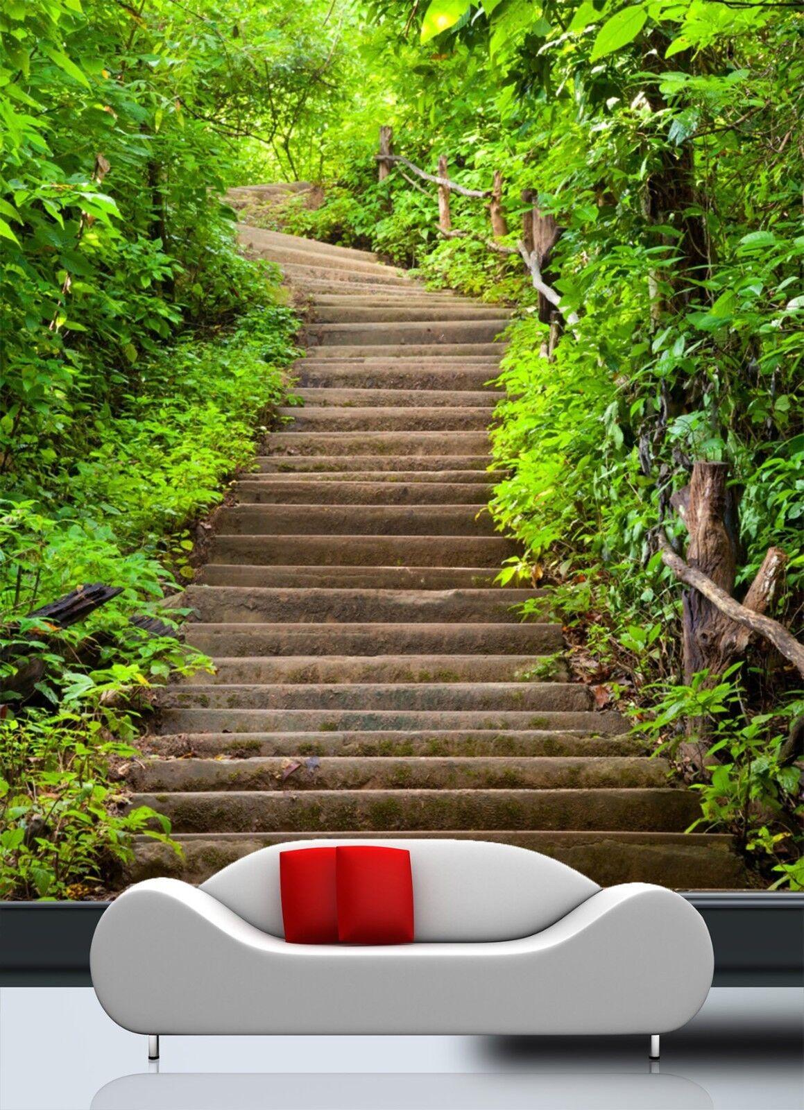 3D Forest Bridge 3 Door Wall Mural Photo Wall Sticker Decal Wall AJ WALLPAPER UK