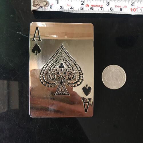 Acier Inoxydable LUCKU Poker une Boucle de ceinture homme Heavy Duty vintage cowboy joueur