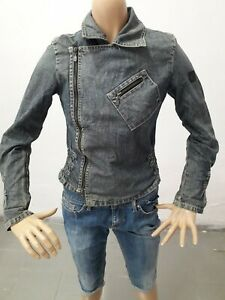 Giubbino-Jeans-BELSTAFF-Donna-Jacket-Woman-Veste-Femme-Taglia-size-S-Cotone-8538