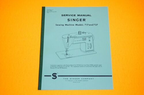 Service Manual on CD: Time Adjust Singer 717 and 737 Sewing Machines. Repair