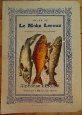 Victorian Diecut Scrap 1890s on Large 10x7 Chicoree Advertising - Fish