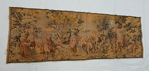 Vintage French Beautiful Scene Tapestry 49x139m T437