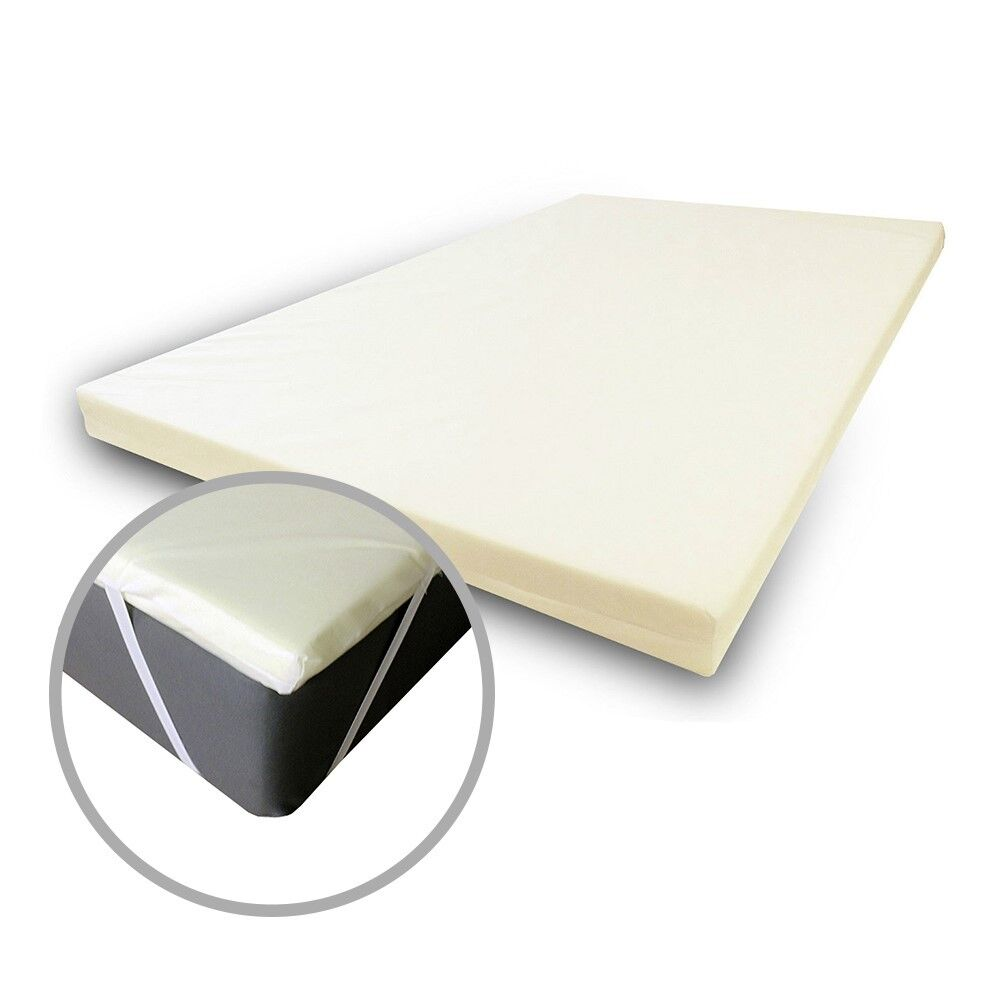Single Orthopedic Memory Foam Mattress Topper - 1  2  3  4  - with Secure Cover