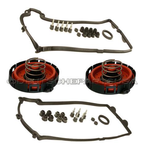 PCV VALVES for BMW SET 4 Valve Cover Gasket Gaskets 11127513194 11127513195