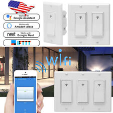 3pc 1/2/3 Gang Smart WiFi Wall Light Switch Modern Panel for Amazon Alexa Google