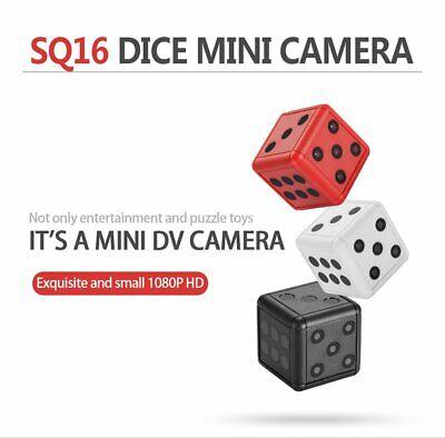 1080P HD Dice Mini Hidden Camera Portable Spy Hide Keychain Cam Security SQ16
