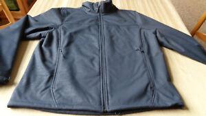 The-North-Face-MENS-Soft-Shell-Full-Zip-Jacket-COAT-XLarge-XL-BLUE