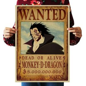 Room Decor Ideas Monkey D Dragon Wanted Anime Manga Cosplay Poster Ebay