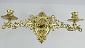 Vintage/Antique Art Nouveau Piano/Wall Sconce Double Candle Holder Swing Arm