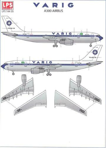 LPS Decals 1//144 AIRBUS A300 Varig Airlines