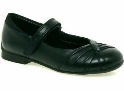 Clarks Movello8 Patent Girls Black School Shoes New with box