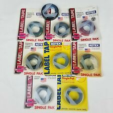 Rotex 38 Manual Embossed Label Maker Tape Total 1152 8 Rolls Open Roll