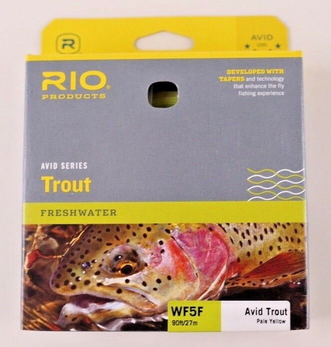Rio Avid Trout Fly Line WF5F Pale Gelb Free Fast Shipping 6-20130