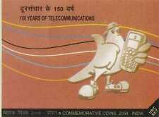 150 YEARS OF TELECOMMUNICATIONS 2004 -UNC COIN SET RS.100(SILVER)+2