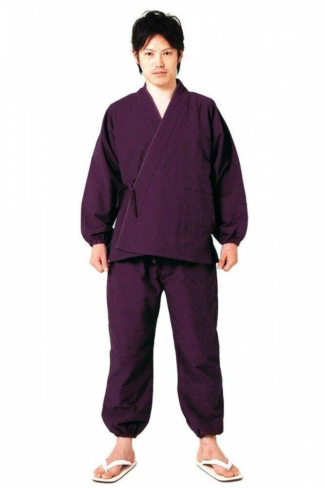 Men's Samue Shiso Purple traditional work wear for winter warm wear any size