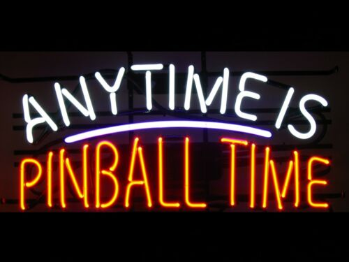 """New Anytime Is Pinball Time Game Room Beer Pub Bar Neon Light Sign 24/""""x20/"""""""