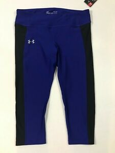 Under-Armour-NWT-Women-s-Speed-Stride-Heat-Gear-Midrise-Capri-Leggings-Blue-L-XL