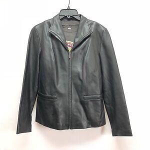 Jones-of-New-York-Mens-Genuine-Leather-Jacket-Size-M-Bomber-Style