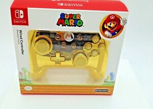 Special-Edition-Nintendo-Switch-Gold-Chrome-Wired-Controller-Super-Mario