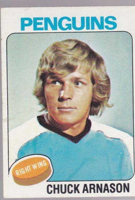 1975-76 TOPPS HOCKEY CHUCK ARNASON #57 PENGUINS EX+ *54623