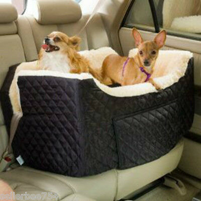 Pet Dog Cat Lookout Car Carrier Bed Booster Car Seat 34lbs Large Snoozer Black