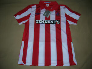 Glasgow Rangers Soccer Jersey Scotland Top Football Shirt Maglia Red ss Trikot