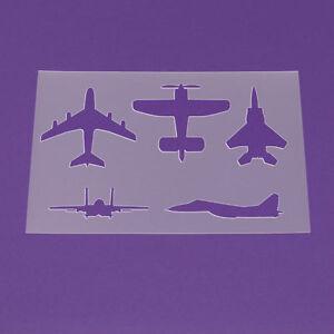 Schablone Din A3 Flugzeug Düsenjäger Jet Flieger - LA68 | eBay