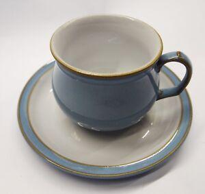 DENBY COLONIAL BLUE TEA CUP & SAUCER | eBay