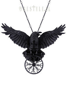 Restyle helm of awe raven pendant nordic talisman black crow healing image is loading restyle helm of awe raven pendant nordic talisman aloadofball Choice Image