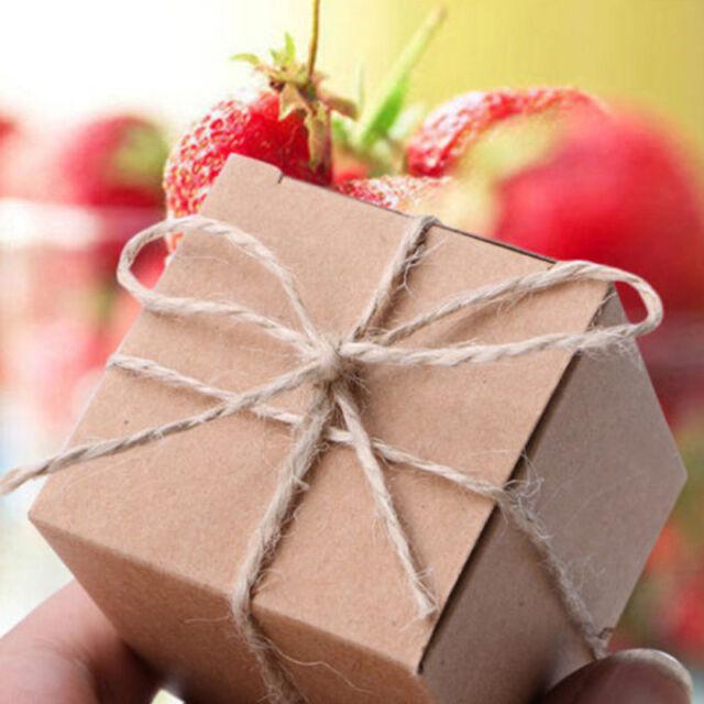 10//50//100PCS Wedding Candy Box Gift Boxes Paper Kraft Pillow Shape Bag Party dqq