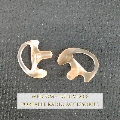 Medium Clear Custom Earpiece Earmold For Radio Surveillance Earpiece L/&R