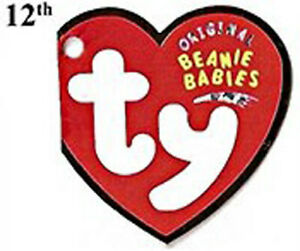 Beanie Babies TY Retired Assorted Bears & Animals Plush - 12th Generation Tags