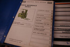 Details about CLARK EC500 355 Lift Truck Forklift Parts Manual book on