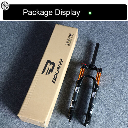 "US 26//27.5//29/"" BOLANY Suspension Fork MTB Bike 100mm Straight//Tapered Magnesium"