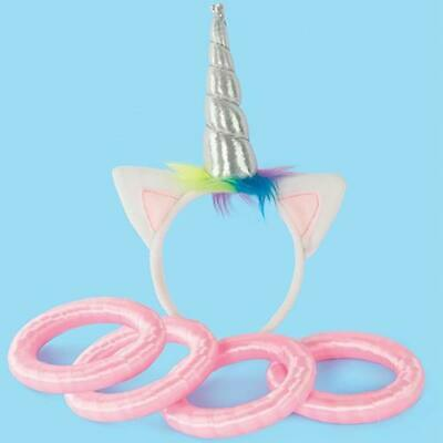 Fizz Creations Unicorn Hoopla Game Magical Horn Ring Toss Fun Rainbow Mythical
