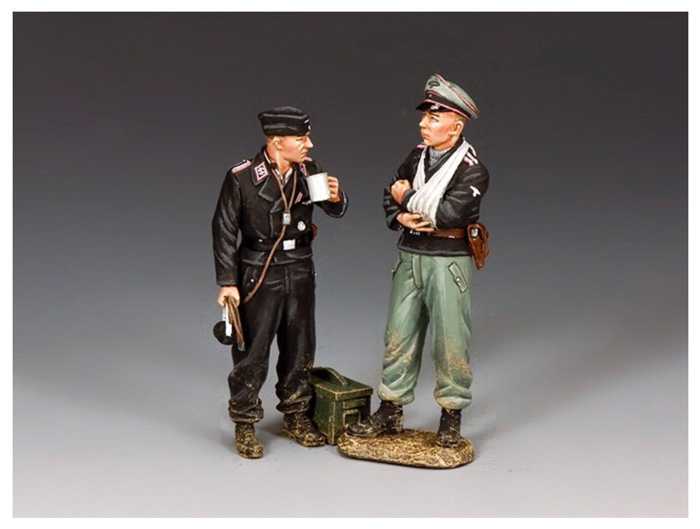 WS346 WW2 2x German Dismounted Panzer Tank Crew Mint in Box D-Day Normandy
