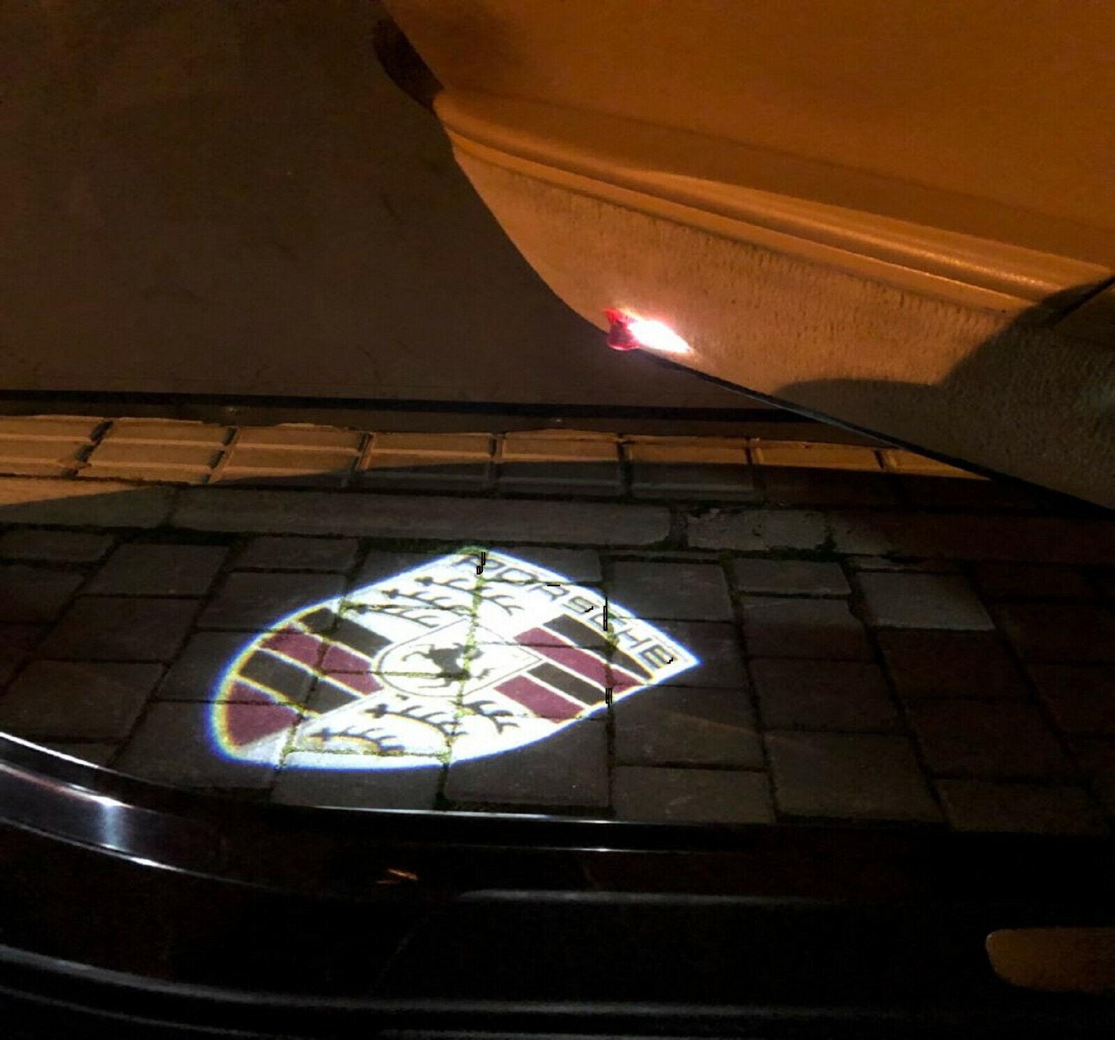2PCS Car Door Projector Welcome Light Logo Ghost Shadow  PANAMERA CAYMAN 997 911