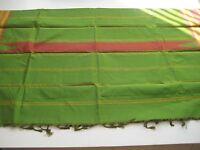 Beautiful Sari Green/red W/ Checks Pattern Brand
