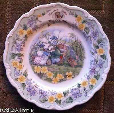 """❤RARE NEW IN BOX HTF ROYAL DOULTON Brambly HEDGE CHINA PLATE """"THE OUTING""""❤"""