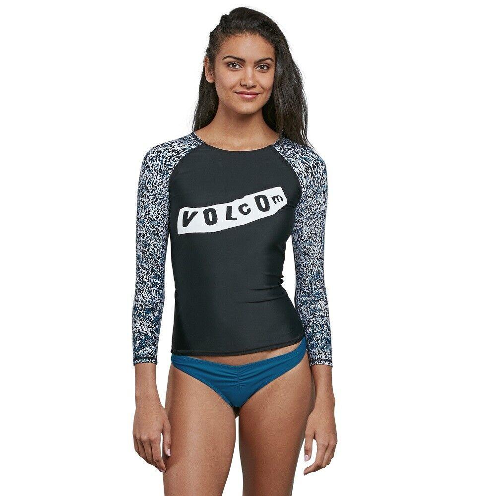Volcom Ladies Stay Tuned Long Sleeve Rash Vest Rashguard Surf Swim