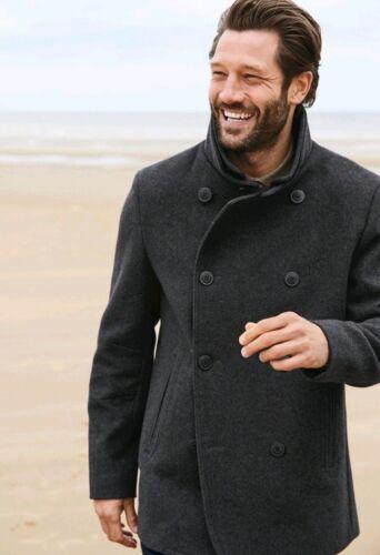 Carbone Signiture 4xl di nero Nuovo fustagno Collection Cappotto italiano Next di Men's legna zqURww