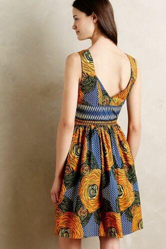 6P 2 8 exotic Prints 4 NWT Anthropologie Millie Collines Moonrise Dress