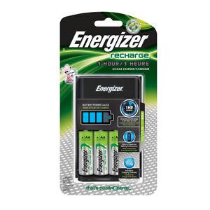 Energizer-AA-AAA-1-Stunde-Ladegeraet-mit-4-AA-NiMH-Akkus