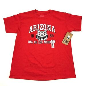 NEW Blue84 University Of Arizona WILDCATS Shirt Boys M Medium DIA DE LOS MUERTOS