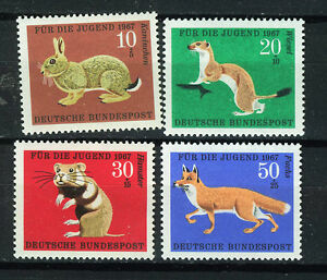ALEMANIA-RFA-WEST-GERMANY-1967-MNH-SC-B422-B425-Animals
