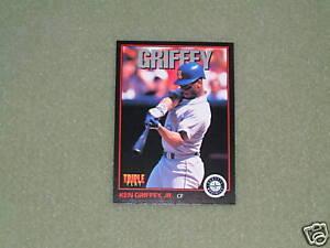 d115c79f61 Image is loading KEN-GRIFFEY-JR-TRIPLE-PLAY-Card-1-1993