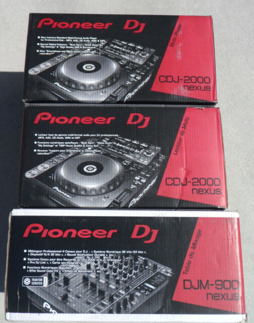 Brand New Pioneer Nexus DJ Set (2) CDJ 2000 NXS Players (1) DJM 900 NXS Mixer