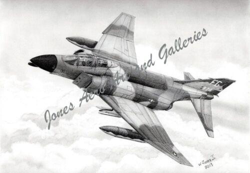 """Robin Olds/' F-4C Phantom II /""""Scat XXVII/"""" Giclee /& Iris Prints by Willie Jones Jr"""
