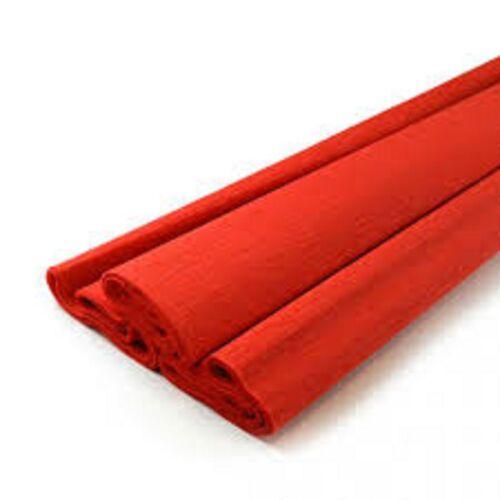 papier crépon rouge  rouleau 50 cm x  2m  NEUF SOUS BLISTER